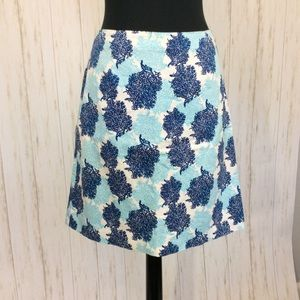 Vineyard Vines Blue Coral Printed Skirt Sz 8
